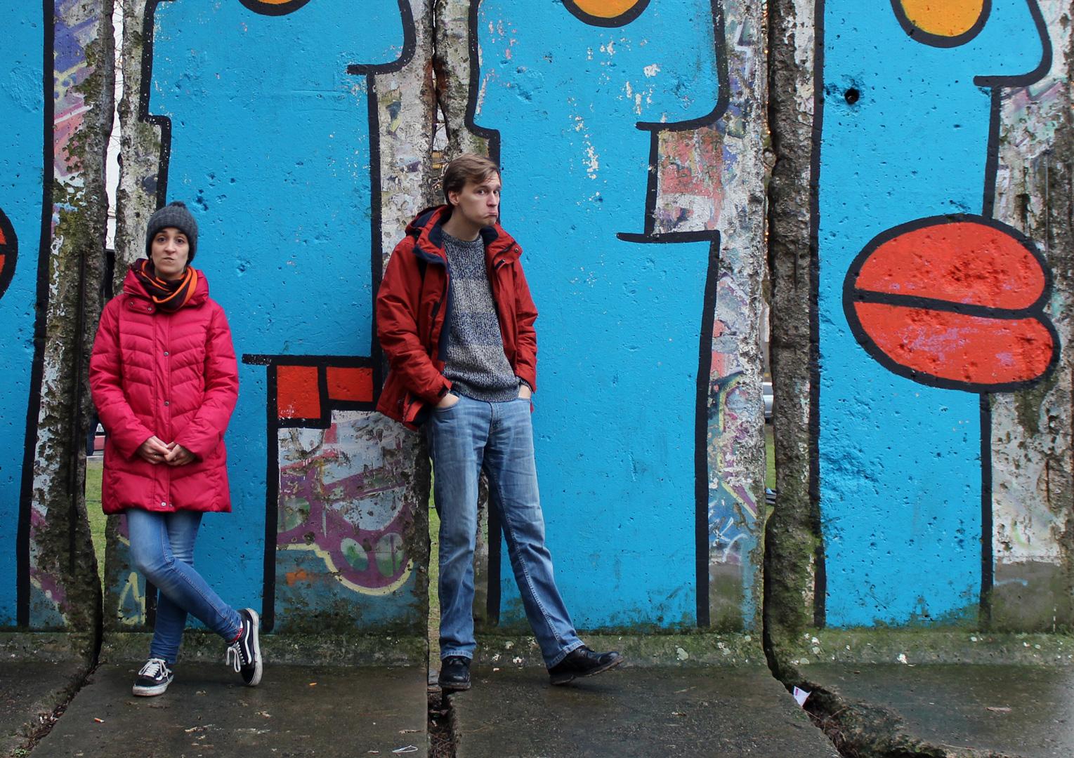 Resto do Muro de Berlim em Leipziger Platz